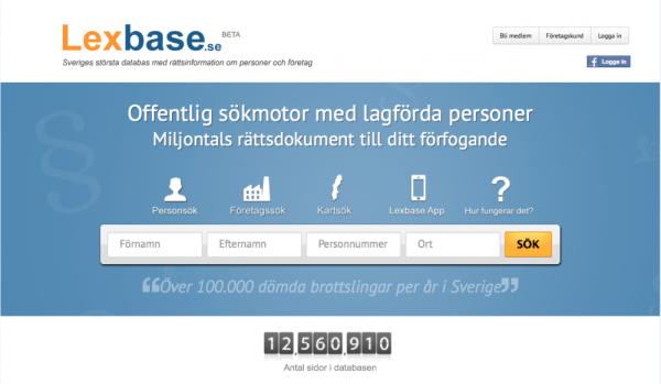 Lexbase - Den nya omtalade tjänsten.