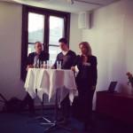 Seminarium Springtime PR. F.v. Johan Englund, Jonas Morian, Karin Bäcklund.